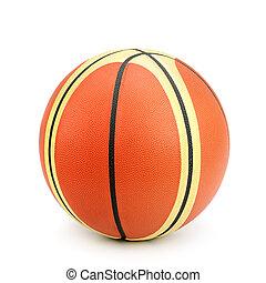 weißes, basketball, freigestellt, hintergrund