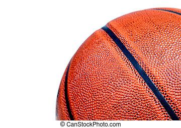 weißes, basketball, freigestellt