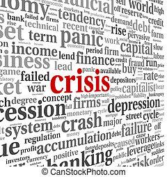 weißes, begriff, Krise