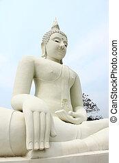 weißes, buddha