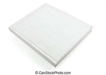 weißes, casebound, buch