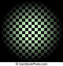 weißes, checkered, schwarzer kreis, hintergrund