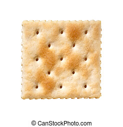 weißes, cracker, saltine, freigestellt