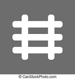 weißes, eisenbahn, ikone