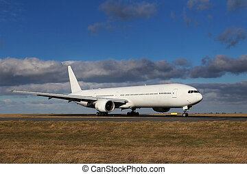 weißes, flugzeug