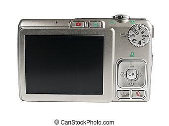 weißes, fotoapperat, freigestellt, digital