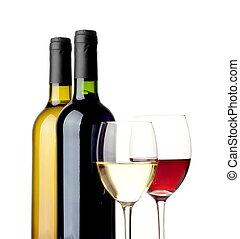 weißes, freigestellt, rotwein