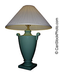 weißes, grüne lampe