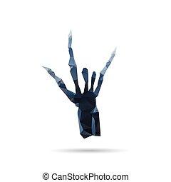 weißes, hintergruende, freigestellt, röntgenaufnahme, hand