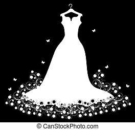 weißes, kleiderbügel, kleiden, wedding