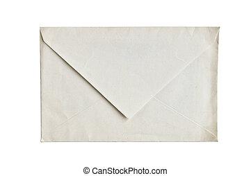 weißes, leerer , briefkuvert, freigestellt, hintergrund