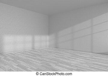 Weißer Parkettboden zimmer boden parkett ecke weißes leerer licht bild
