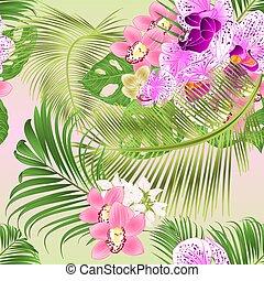 weißes, lila, beschaffenheit, orchidee, rosa, cymbidium, ...