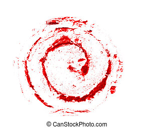 weißes, locke, grunge, rotes