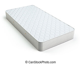 weißes, matratze, freigestellt, auf, white.