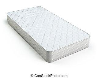 weißes, matratze, freigestellt, white.