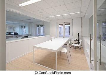 weißes, modern, büromöbel