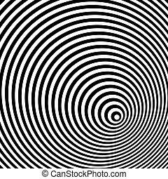 weißes, optisch, schwarz, illusion