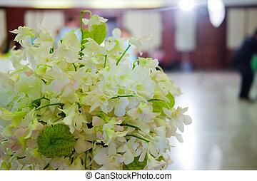 weißes, orchidee, blumen, dekorativ, für, wedding