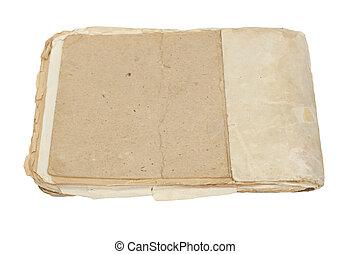 weißes, papier, altes , freigestellt