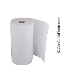 weißes, papiertuch, rolle