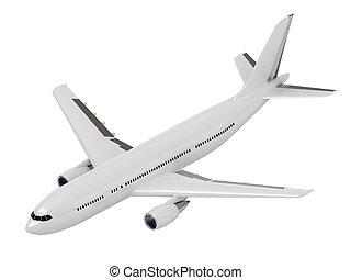 weißes, passagier verkehrsflugzeug