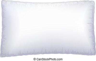 weißes, pillow.