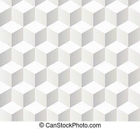 weißes, proben, geometrisches muster