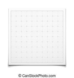 weißes, quadrat, gitter, freigestellt, schatten
