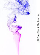 weißes, rauchwolken, hintergrund
