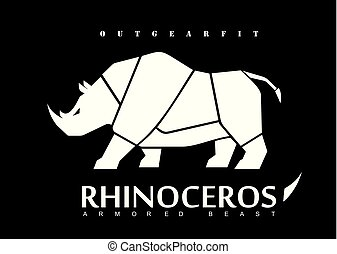 weißes, rhinoceros., nashörner