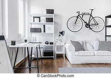 weißes, schwarz, anordnung