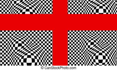 weißes, schwarz, kreuz, rotes , basis