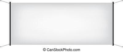 weißes, segeltuch, banner
