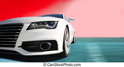 weißes, sportwagen