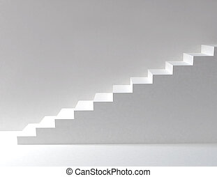 weißes, treppe