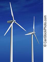 weißes, turbinen, ll, wind