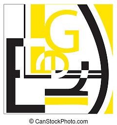 weißes, typographie