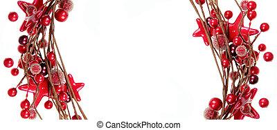 weißes, umrandungen, freigestellt, hintergrund, rotes