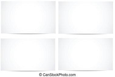 weißes, vectors, banner, leer