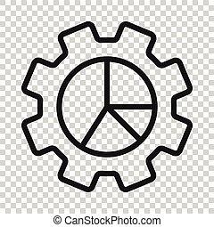weißes, vektor, geschaeftswelt, workflow, abbildung, wohnung, ikone, concept., freigestellt, hintergrund., organisation, tabelle, diagramm, prozess, ausrüstung, style.
