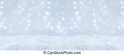 weißes weihnachten, mit, schnee