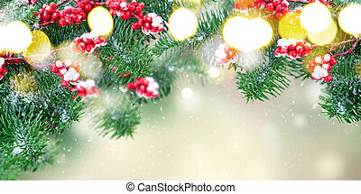 weißes weihnachten, rotes