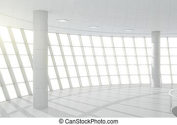 weißes, zentrieren, geschaeftswelt, halle