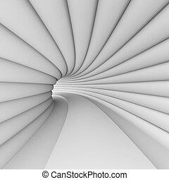 weißes, zukunftsidee, architektur