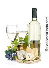 weißwein, kã¤se, und, traube