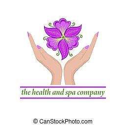 weibliche , besitz, healthcare, phalaenopsis, violett, ...