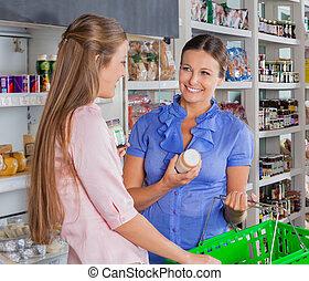 weibliche , friends, shoppen, lebensmittelgeschäft