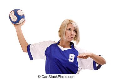 weibliche , handballspieler