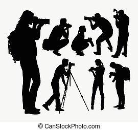 weibliche , mann, fotograf